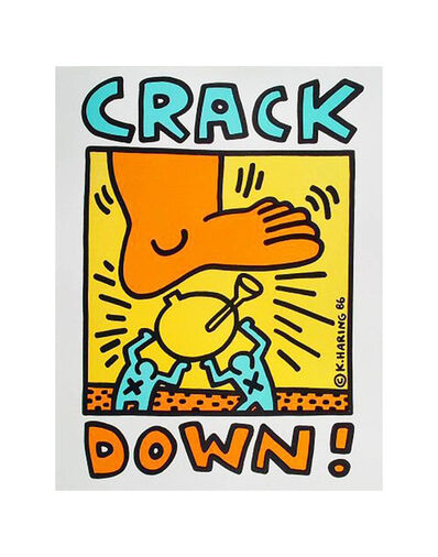 Keith Haring, 'Crack Down!', 1987