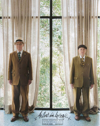 Gilbert & George, 'At Home with Lina Bo Bardi, Living Sculpture (Casa de Vidro)', 2012
