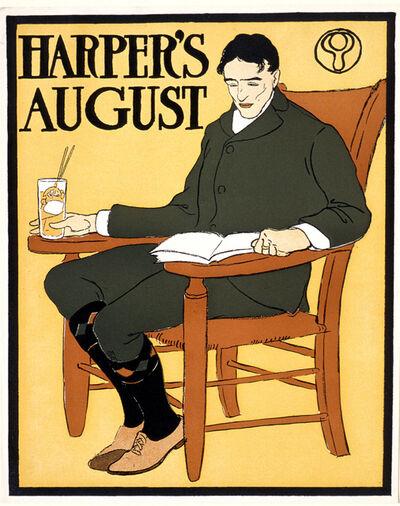 Edward Penfield, 'Man Seated in Orange Chair, August Harper's', 1885-1915