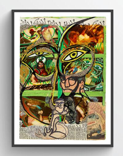 Dan Eldon, 'Self Portrait in Green', 1988
