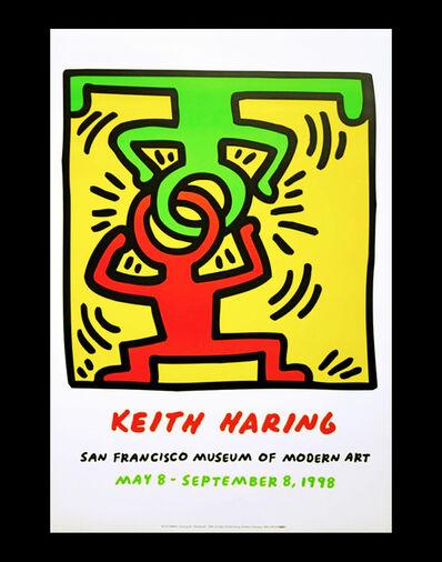 Keith Haring, 'Vintage Keith Haring exhibit poster (after Keith Haring)', 1998