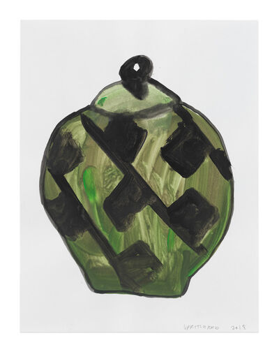 Francis Upritchard, 'Green Lidded Urn with Black Motive', 2018