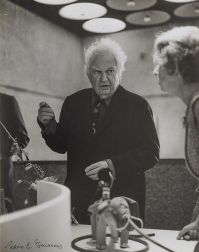 Pedro E. Guerrero, 'Alexander Calder Installing The Circus at the Whitney, NY with Jean Lipman', 1976