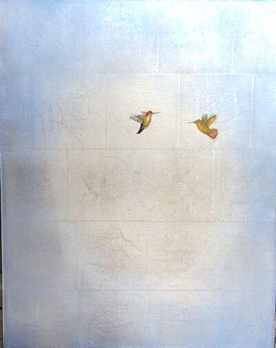 Carolyn Reynolds, 'Two Hummers in Beautiful Blue', 2019