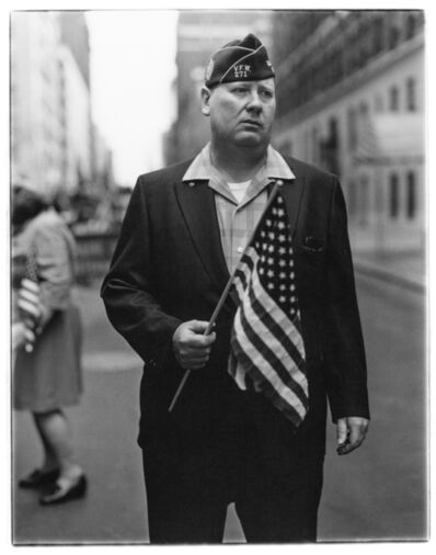 Diane Arbus, 'Veteran with a flag, N.Y.C. 1971', 1971