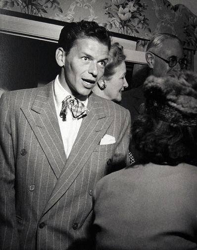 Murray Garrett, 'Frank enjoys being greeted by Hedda Hopper during a party for Colnel McCormick, publisher of the Chicago Tribune', ca. 1948