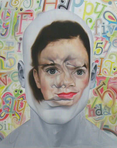 Christophe Avella-Bagur, 'Face FS160 Happy Five Bridget B ( Elegy to C.Demuth and J.Johns)', 2013
