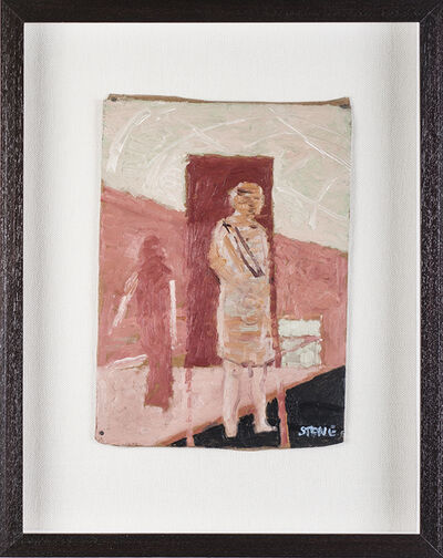 Simon Stone, 'Pink Figures in front of Pink Rectangle', 2017