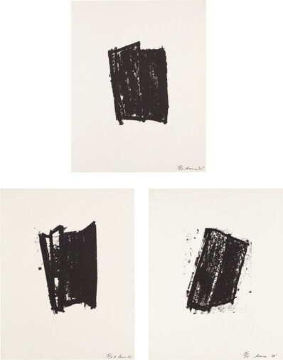 Richard Serra, 'Sketch #2; Sketch #3; and Sketch #5, from Sketches series', 1981