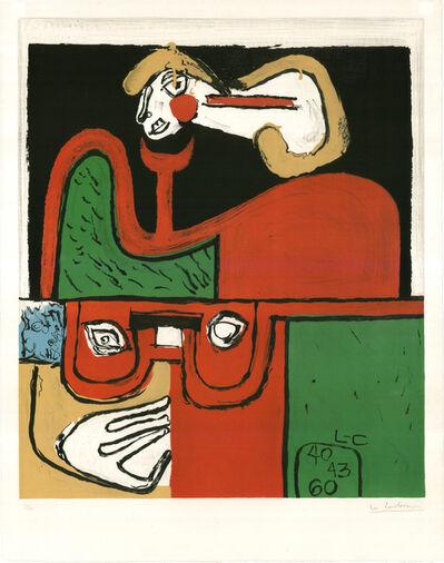 Le Corbusier, 'Portrait (hand-signed)', 1960