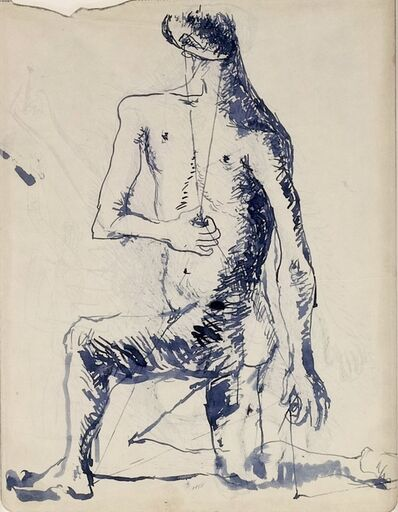 Pavel Tchelitchew, 'Studies for a Seated Male Figure (double sided)', ca. 1928
