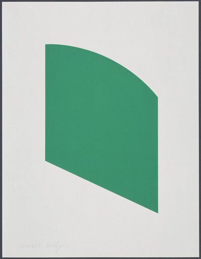 Ellsworth Kelly, 'Green Curve', 2002