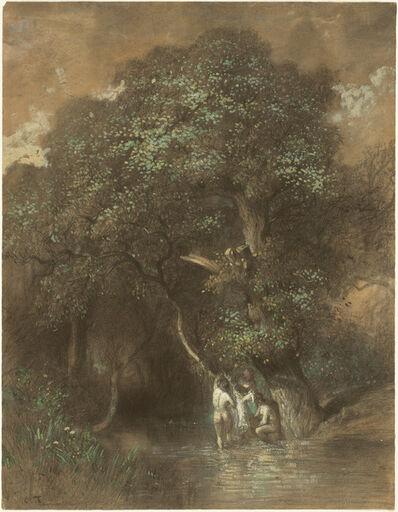 Constant Troyon, 'Bathers by a Giant Oak', ca. 1842/1844