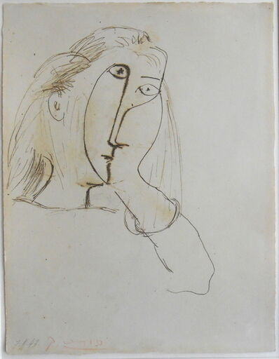 Pablo Picasso, 'Woman Resting her Head on her Hand (portrait of Dora Maar)', 1943