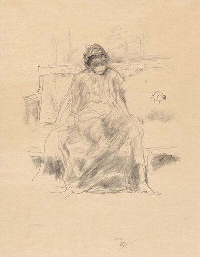 James Abbott McNeill Whistler, 'The Draped Figure - Seated', 1893
