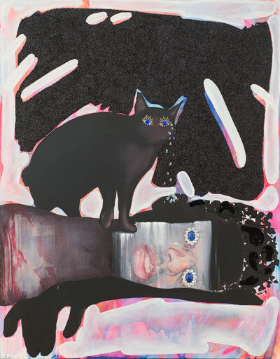 Devan Shimoyama, 'Black Kitty Chrystalline Tears Healing the Black Boy's Tainted Ears', 2015