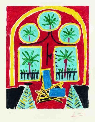 Pablo Picasso, ' interieur rouge avec un transatlantique bleu', 1960