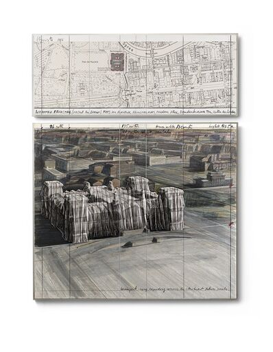 Christo, 'Wrapped Reichstag (Project of Berlin)', 1986