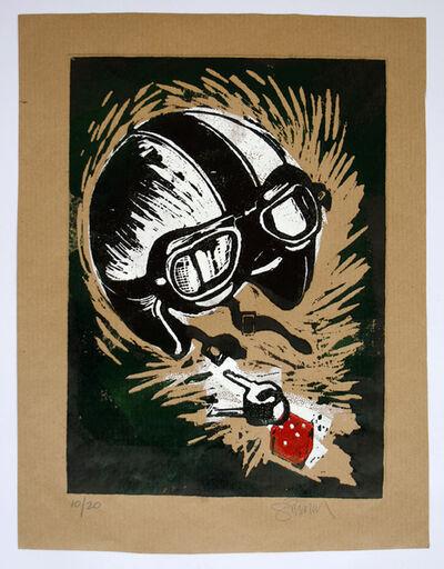 Paul Simonon, 'Crash Helmet (Green and Black)', 2014