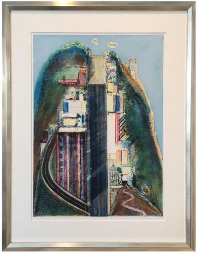 Wayne Thiebaud, 'Steep Street', 1994