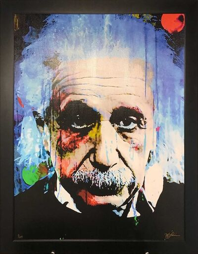 Mark Lewis, 'Limited Edition Giclee 'Questioning Tomorrow - Albert Einstein' Celebrity Pop Art, Famous People Artwork', 2017