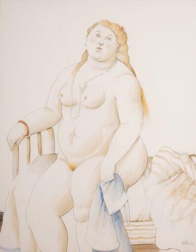Fernando Botero, 'Sitting nude ', 2012
