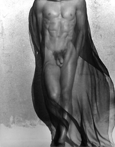 Herb Ritts, 'Male Torso with Veil, Silverlake', 1985
