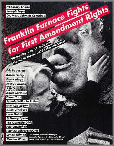 Barbara Kruger, 'Barbara Kruger Franklin Furnace Rights poster', 1990