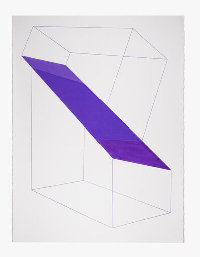 Brant Ritter, 'Accidental Happiness (Wireframe) Purple', 2017