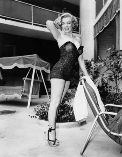 Frank Worth, 'Marilyn Monroe posing poolside', 1954