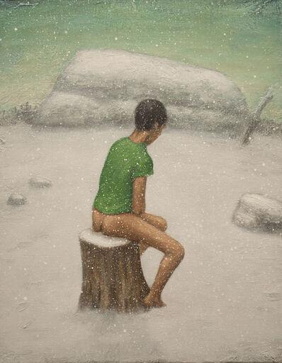 Seth Michael Forman, 'Man in Snow (Green Shirt)', 2012
