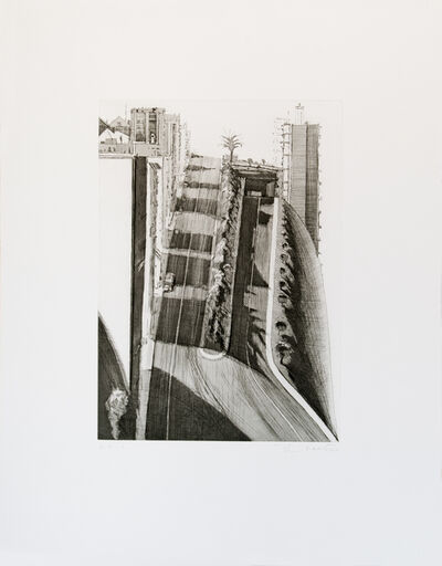 Wayne Thiebaud, 'Neighborhood Ridge', 1984