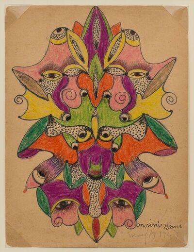Minnie Evans, 'Unititled (Faces) ', 1947