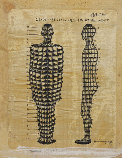 Paul Neagu, 'Human Collector 392 Cells', 1969