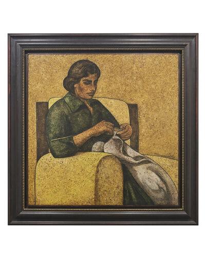 Louay Kayali, 'Woman Sewing', 1974