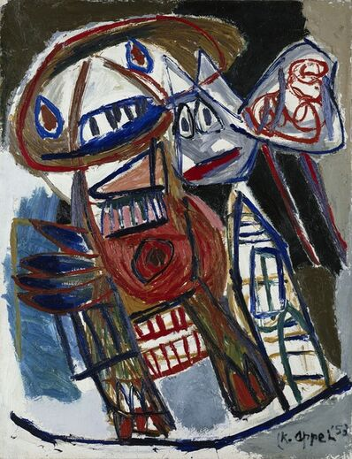 Karel Appel, 'Woman and dog on the street', 1953