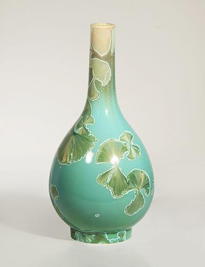 Hongwei Li, 'Dan ping vase, traced ink splash glaze', 2018