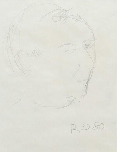 Richard Diebenkorn, 'Portrait of Jasper Johns', 1980