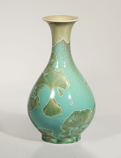 Hongwei Li, 'Pear-shaped vase with flared lip, traced ink splash glaze', 2018