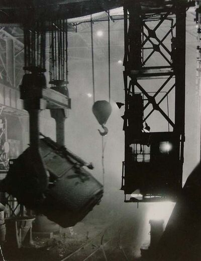 Margaret Bourke-White, '200-Ton Ladle at Work', 1929