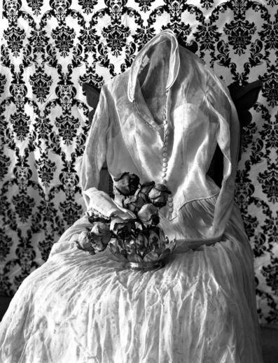 Leslie Hanes, 'Wedding Dress Waiting'