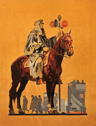 Edward Penfield, 'Policeman on Horseback', 1915