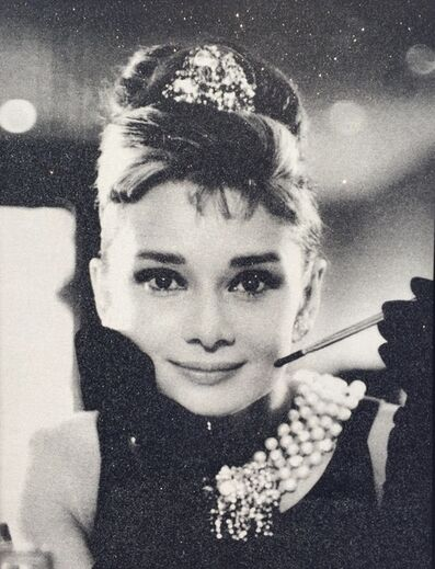 Russell Young, 'Audrey Hepburn, Black & White', 2018