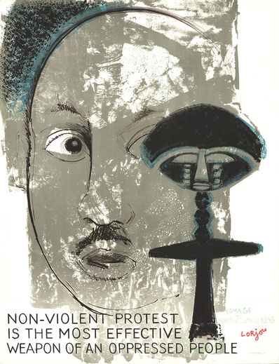 Bernard Lorjou, 'Homage to Martin Luther King', 1970