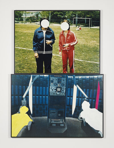 John Baldessari, 'Two Figures and Two Figures (in different environments)', 1990