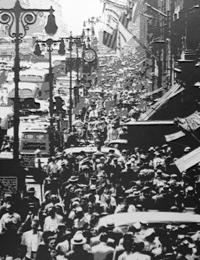 Vik Muniz, 'Pictures of Paper: Noon Rush hour on Fifth Ave. 1949, after Andreas Feininger', 2009