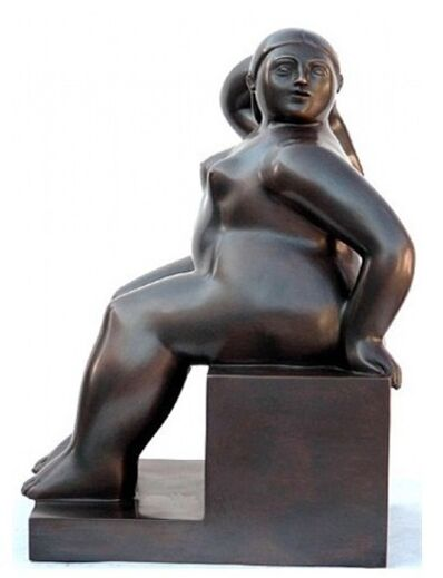 Fernando Botero, 'Woman Seated on a Cube', 2006