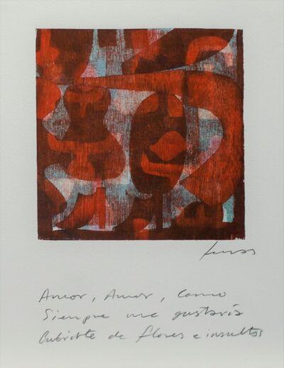 Damián Lescas, 'Amor, amor, como siempre me gustaría cubrirte de flores e insultos', 2019