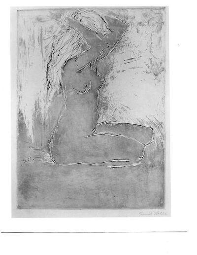 Emil Nolde, 'Kniendes Mädchen (Kneeling Girl)', 1907