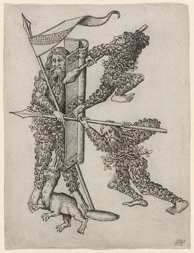 """Master E.S., 'The Letter """"K""""', ca. 1466/1467"""